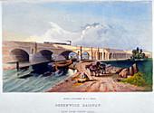 Greenwich Railway, Deptford, London, 1836