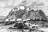 The Potala palace in Lhasa, Tibet, in the 17th century