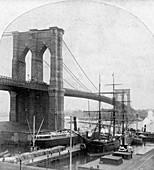 Brooklyn Bridge, New York, USA, late 19th century