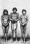 Three Guarauni Indians, Venezuela, 1895