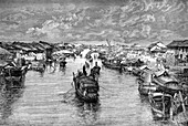 Boats on the Chinese Arroyo, near Saigon, Vietnam, 1895