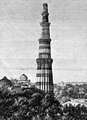 The Tower of Kutar, Delhi, India, 1895