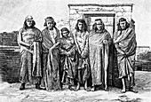 A group of Patagonians, Argentina, 1895
