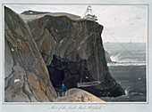 Part of the South Stack, Holyhead, Anglesey, Wales, 1829