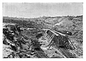 The Panama Canal under construction, c1890