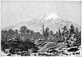Mount Fuji, Japan, 1895