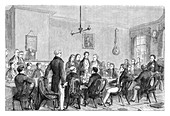 A meeting of the Anti-Corn Law League, Manchester, 1838