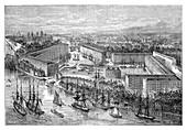 St Katherine's Docks, London, late 19th century