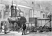 'Locomotion' the first steam locomotive, 19th century