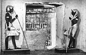 The first glimpse of Tutankhamun's tomb, Egypt, 1933-1934