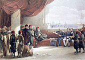Interview with the Viceroy of Egypt at his palace, 1839