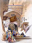 Gateway of a Bazaar, Grand Cairo, Egypt, 1846