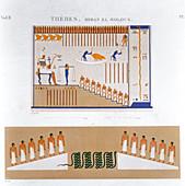 Frescoes from Byban el Molouk, Thebes, Egypt, 1822