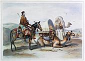 Kafila with a camel bearing a hodesh, 1848
