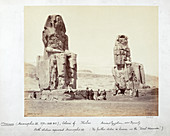 The Colossi of Memnon, Thebes, Egypt, 1862
