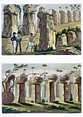 House of the Ancients, Island of Tinian, c1820-1839