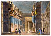 Temple of Rameses II, Abu Simbel, Egypt, c1820-1839
