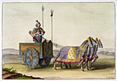 Ancient Chinese war chariot, c1820-1839