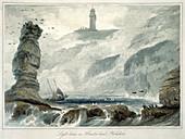 Lighthouse on Flamborough Head, Yorkshire, 1822