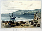 Lyme Regis, from Charmouth, Dorset, 1814-1825