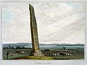 Obelisk at Forres, Moray, Scotland, 1821