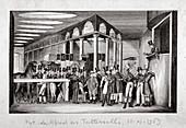 Horse sale yard, Hyde Park Corner, London, c1830