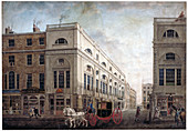 Street scene in Westminster, London, c1790