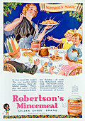 Advert for Robertson's Mincemeat, 1933