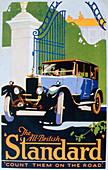 Advert for Standard motor cars, 1920s