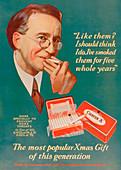 Advert for Craven 'A' cigarettes, 1927