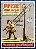 German gas mantle advertising label