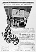 Advert for the Pathescope Home Cinema, 1928