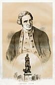 Captain James Cook, British naval officer and explorer