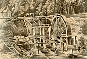 Quartz crushing mill, Australia, 1879