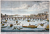 North prospect of Westminster Bridge, London, c1750
