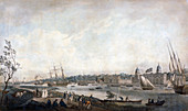 Greenwich Hospital from the Isle of Dogs, London, c1792