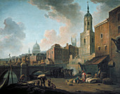 Fresh Wharf, near London Bridge, c1762