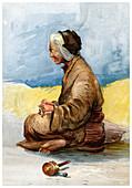 A Tibetan fortune teller, 1898
