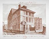 Brew house on Stoney Lane, Bermondsey, London, c1827