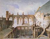 Destruction of St Stephen's Chapel, London, 1834