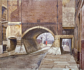 Entrance to Lincoln's Inn Fields, Westminster, London, 1883