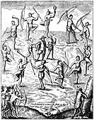 Captain John Smith taken prisoner by the Indians