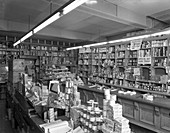 Co-op shop interior, Barnsley, South Yorkshire, 1960