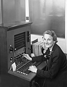 Switch board operator, 1960