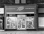 Boots the Chemist, Mexborough, South Yorkshire, 1965