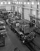 Locomotives being assembled, c1960s