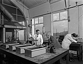 Laboratory, Edgar Allen Steel foundry, 1962