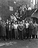 Group portrait of workers, 1963