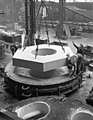 Pattern for a giant magnet casting, 1963