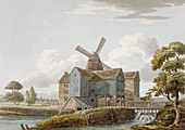 View of West Ham Mills by the River Lea, London, c1800